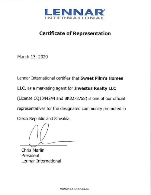 Certification of representation